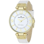 Anne Klein White Band Goldtone White Dial Watch - 109168WTWT