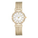 Anne Klein Multi-chain Yellow Goldtone Watch - AK-2144MPGB