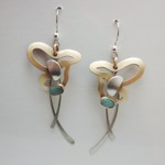 Brushed Gold 'butterfly' Dangle Earrings
