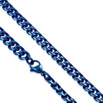 Blue Anodized Stainless Steel 8mm Curb Chain