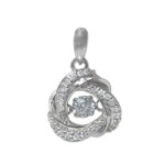 Dancing Pulsing CZ Necklace - Small Celtic Love Knot