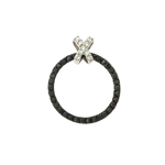 Black Cubic Zirconia Circle of Life with 'X' Top Necklace