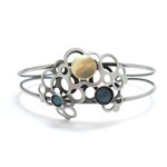 Honeycomb Bracelet with Blue Cats Eye by Crono Design