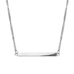 Stainless Steel Plain Bar Necklace - SSP282NK1
